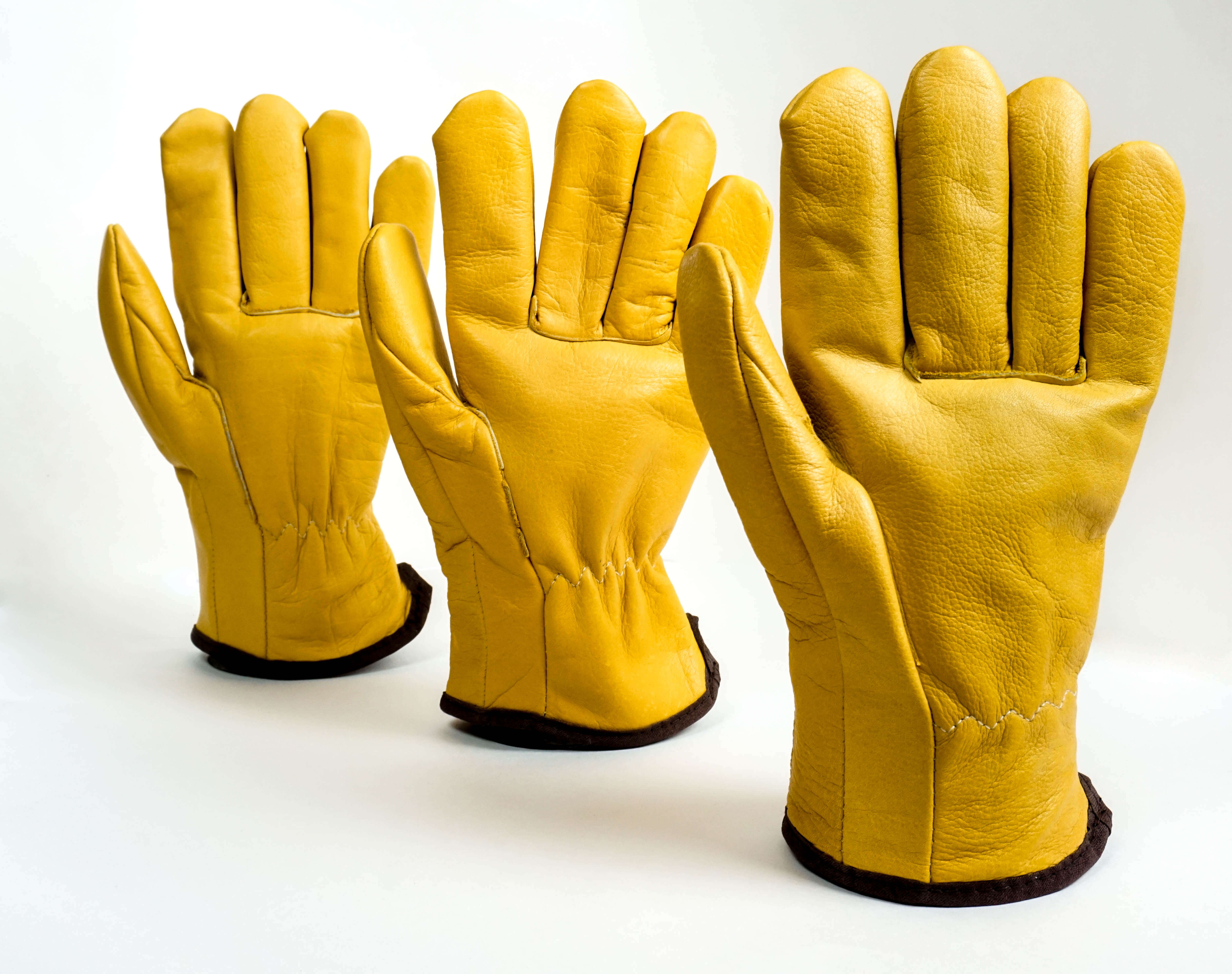 The Woodsman Premium Cowhide Leather Glove 3 Pairs Of Gloves